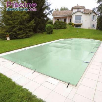 Bâche à barres piscine Securit Pool Excel Discover coloris amande opaque
